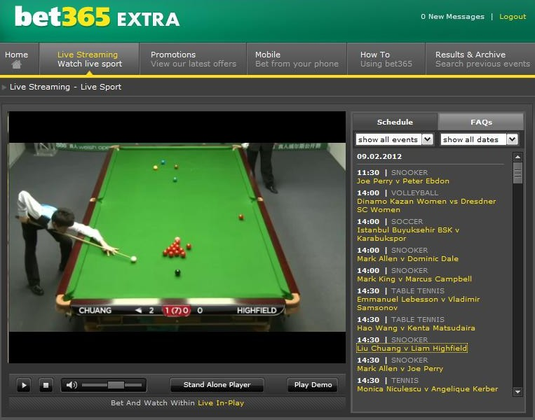 Bet365 Snooker