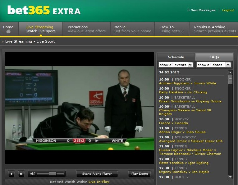 Live Streaming Jimmy White Snooker