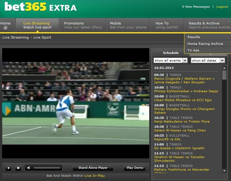Tennis 16th Live Streaming