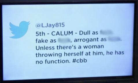 CBB Calum Best Tweet